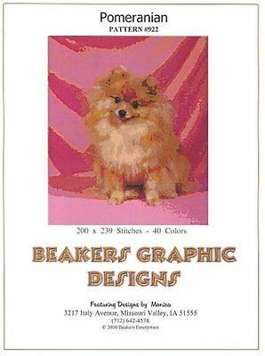 POMERANIAN Counted Cross Stitch detailed #0922
