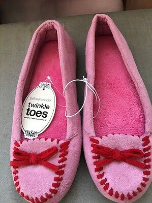 Peter Alexander Ladies Pink Moccasin Slippers Size 9 NEW