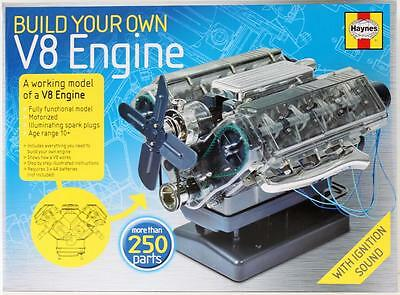 Haynes - Build your own Working V8 Engine -Model Kit over 250 parts - NEW