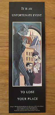 Lemony Snicket Series Of Unfortunate Events Bookmark Rare Us Item (2003)