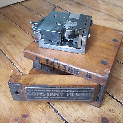 Monotype Printing Constant Height Composition Mould 10 Pt Serr w Case Vintage