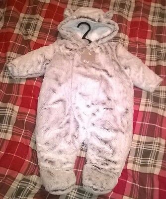 Gorgeous soft & fluffy baby's outdoor babygrow - for boy or girl