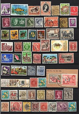British Colonies And Territories Lot Of 800 +  Stamps Used, Mh, Mnh