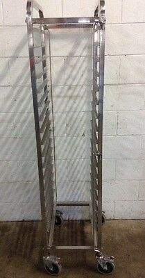 Commercial Kitchen Stainless Mobile 17 Bay Caterers Bakers Rack 1/1 gastro Trays