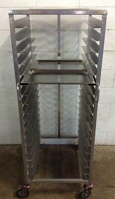 Commercial Stainless Mobile Caterers Bakers Rack Holds 36 X 1/1 gastronorm Trays