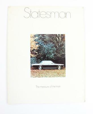 HQ Holden Statesman  July 1971 - Feb 1972 18 page sales brochure