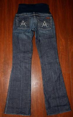 Women's SEVEN 7 FOR ALL MANKIND Bootcut Maternity A POCKET Jeans 27 Medium