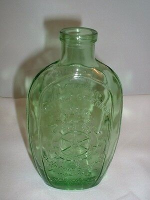 Salem New Jersey Rotary Club Commemorative Anchor Hocking Green Bottle