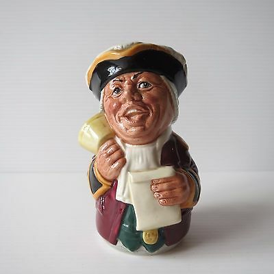 Royal Doulton Doultonville Toby Jug, Mr Tonsil the Town Crier, Small, D 6713