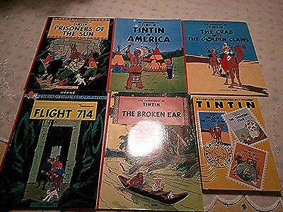 The Adventures of TinTin - Herge - Lot of 6 - 5 PB, 1 HC - New - ENGLISH