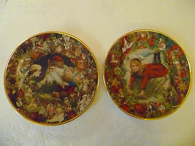 Lot of 2 Christmas Commemorative Plates from Victorian Christmas Memories