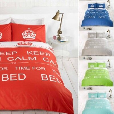 KEEP CALM it's Time for Bed Bedding Duvet Quilt Cover Set with Pillowcases