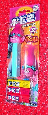 pez POPPY on TROLLS card  2 Times the Candy