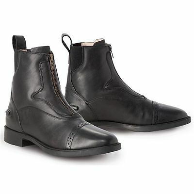 NEW Tredstep Ladies Giotto Front Zip Paddock Boots - Black & Brown - Sizes 37-42