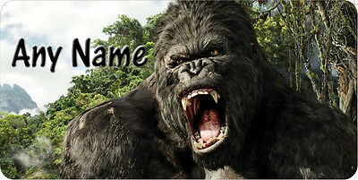 Gorilla King Kong Tag Any Name Personalized Novelty Car Tag License Plate