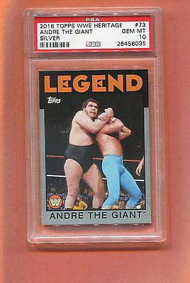 2016 Topps Wwe Heritage Silver Andre The Giant 50/50 Made Psa 10 Pop 1 Tuff Card