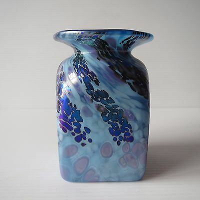 Colin Heaney Cape Byron Hot Glass, Small Vase, Iridescent Artisan Glass, 1990