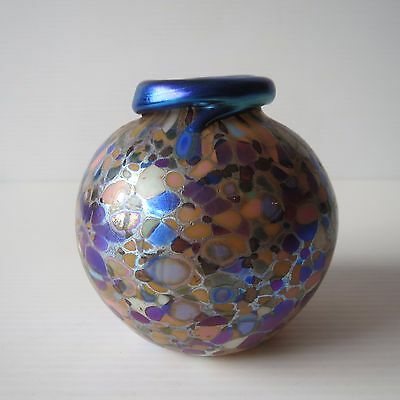Colin Heaney Cape Byron Hot Glass, Small Vase, Hand Blown Artisan Glass, 1989