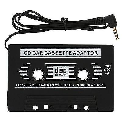 Black In Car Cassette Tape Adapter For Iphone 3G/4G Mp3 Ipod Nano Cd Cassete New