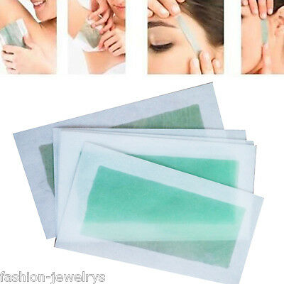 New Double Used Aloe Cold Wax Leg Body Facial Hair Removal Strips Waxing Paper