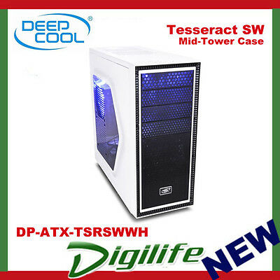 DeepCool Tesseract SW Mid Tower Chassis USB3.0 White DP-ATX-TSRSWWH