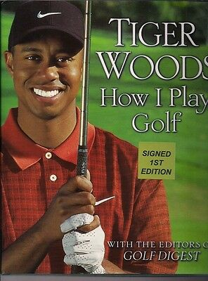 AUTOGRAPHED HAND SIGNED How I Play Golf by Tiger Woods 1st/1st Ed. COA FREE SHIP