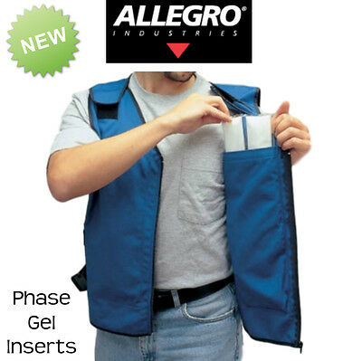Allegro Industries Cooling Vest with Full Set Of Phase Change Gel Inserts
