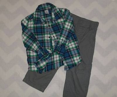 Carters Toddler Boy Flannel Shirt and Pants Set Size 3T