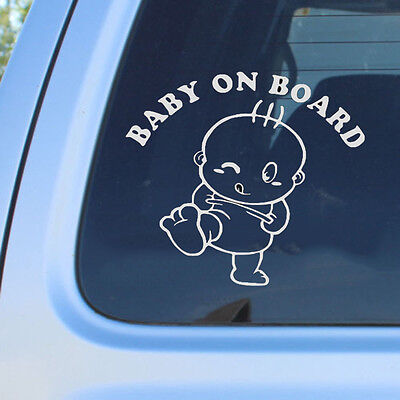 Cute Baby on Board Vinyl Car Graphics Window Vehicle Sticker Decal Decor Auto CN