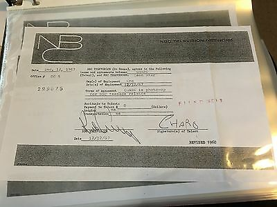Charo Signed Autograph Contract