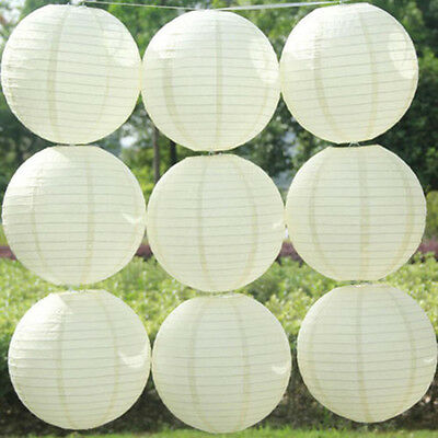 10PCS Round Hanging Chinese Paper Lanterns Wedding Party Decoration