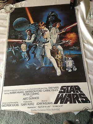 "Vintage Star Wars Original Movie Poster PTW531  1977  20th Century Fox 36""x24"""