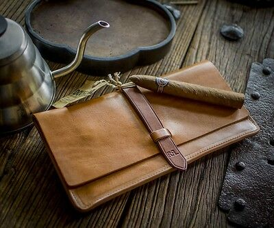 Ralph Lauren RRL English Tan Leather Wallet  Pouch Handcrafted Vintage