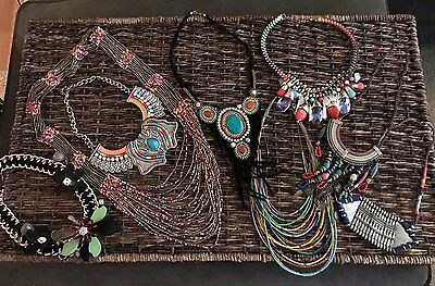 Lot of 8 Costume Statement Jewelry Necklaces