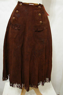 "PATTY McCORMACK Screen Worn ""Kathy O"" 1958 Rust Brown Buckskin Fringe Culottes"