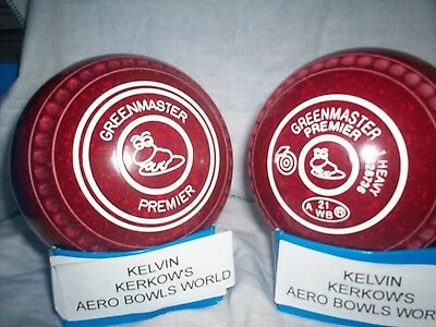 "Greenmaster ""premier""  Lawn Bowls Size 1 Heavy Weight  Gripped ""frog"""