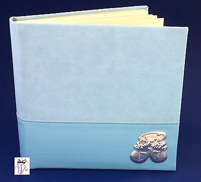 Blue Baby Boy 200 Slip In Photo Album Baby Shower Christening Gift Present