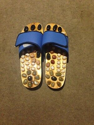 Natural Stone Massage Shoes/Slippers - Men's Size M (42) - Blue