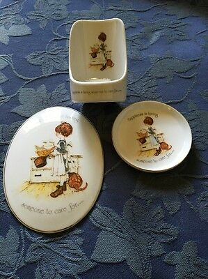 VINTAGE Holly Hobbie Set Bulk...Happiness Is Having Someone To Care For
