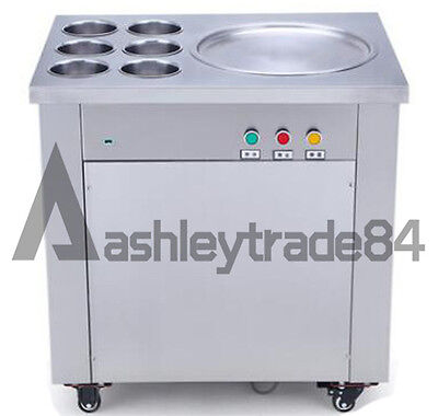 Commercial Fried Ice Cream Machine,Ice Crean Roll Making Machine 220V