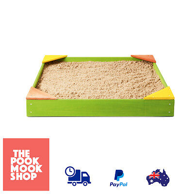 Kids Wooden Square Sandpit, Sand Box  - Play, Build Toy Outdoor Garden, Backyard