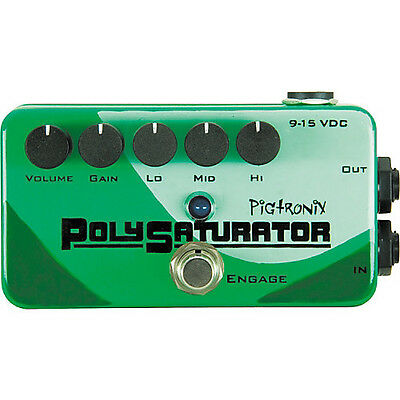 Pigtronix PSO PolySaturator Distortion Guitar Effects Pedal