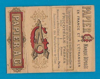 Old EMPTY cigarette rolling papers packet France  #660