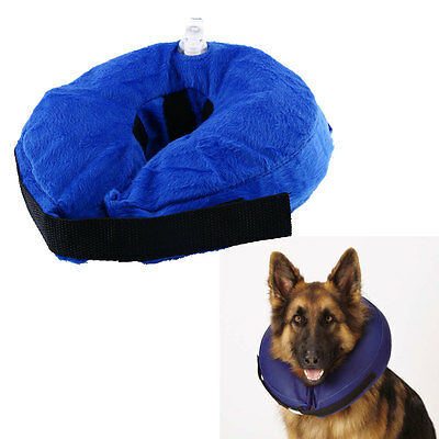 Inflatable Collar Dog Soft E-Collar Pet Puppy Medical Wound Protection Cone S