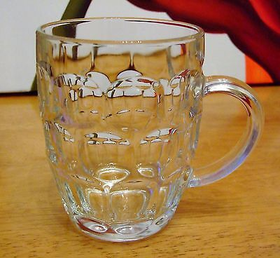 Retro One Pint Jaqr Dimple Glass Tankard