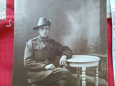 WW1 Australian soldier photo postcard: To Doughie From Georgie 19/10/18