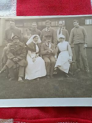 WW1 Australian? soldiers, officers & nurses outside hospital?