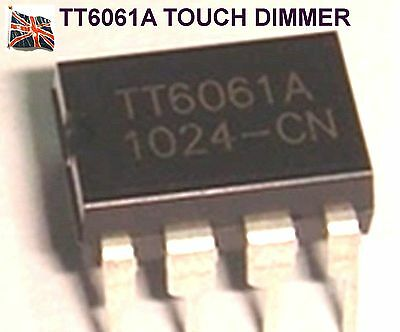 Micropik Tt6061A Touch Dimmer Ic New Dip-8 Uk Stock