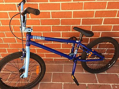 "Gt Fly 2012 Bmx Bike 20"" Blue Boys Girls Unisex Bicycle Freestyle Trick Race Vgc"