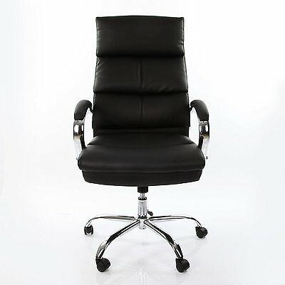 VECELO Computer PC Chairs Swivel Desk Chairs PU Executive Leather Office Chair